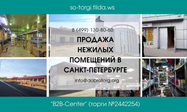 Продажа нежилых помещений в Санкт-Петербурге